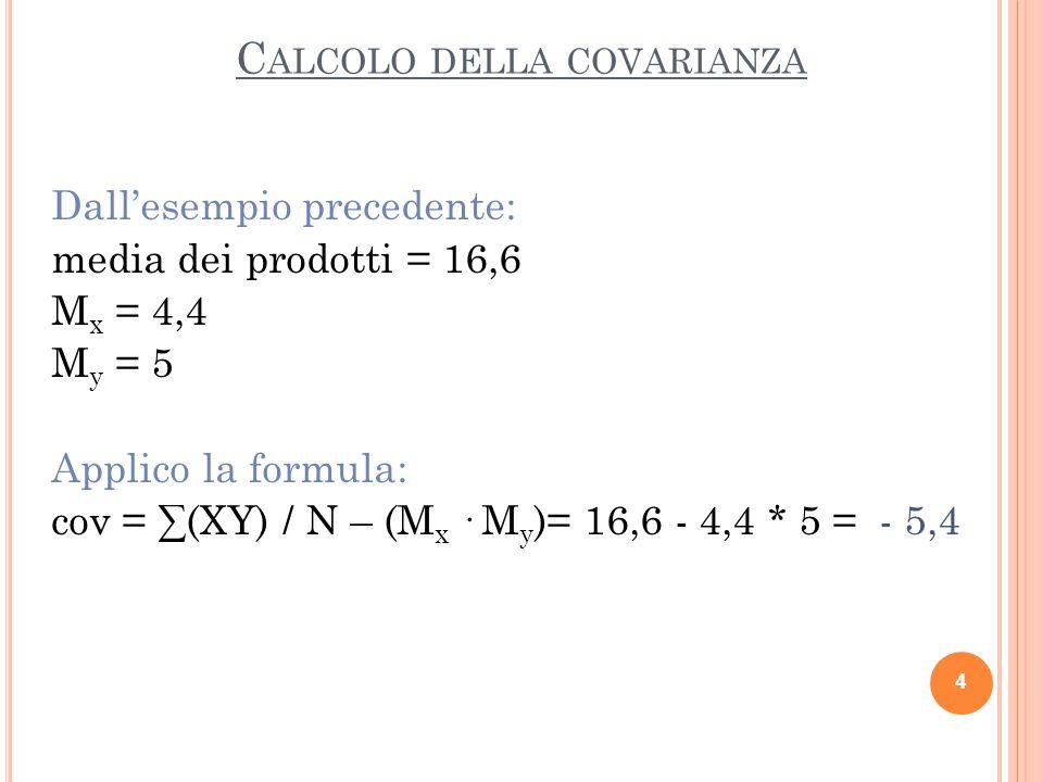 5 soggetto Test R Quadrato di R Prodotto di R · QTest Q Quadrato di Q Anna 119981 Brigida 2414749 Carlo 416824 Delia 74928416 Enrico 8642439 somma221348325159 media4,426,816,6532 varianza7,446,8 dev.