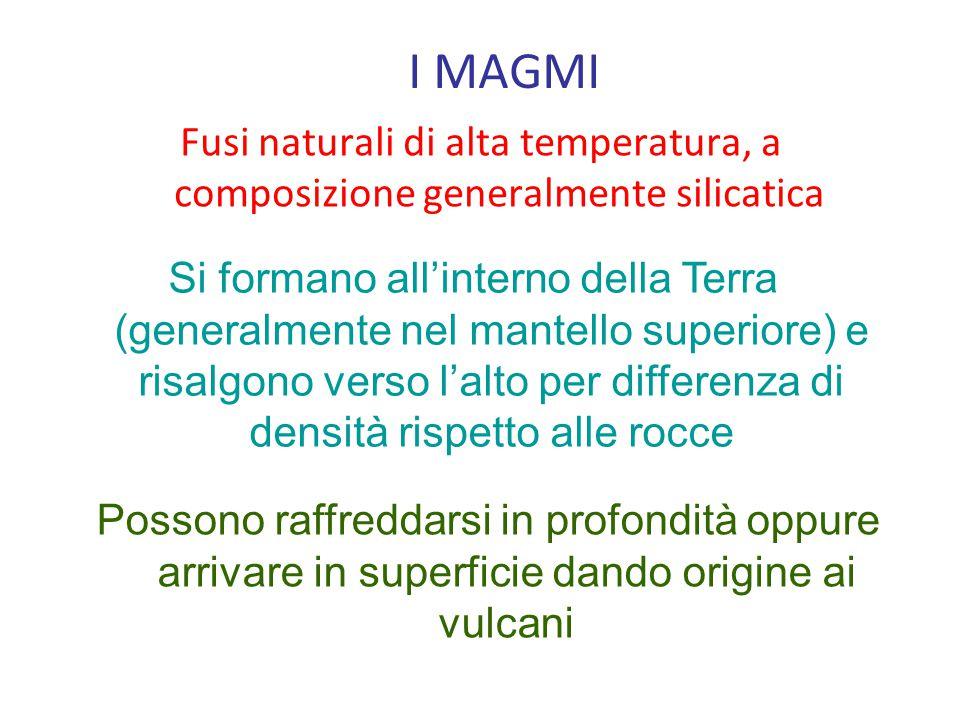 Fusi naturali di alta temperatura, a composizione generalmente silicatica Si formano all'interno della Terra (generalmente nel mantello superiore) e risalgono verso l'alto per differenza di densità rispetto alle rocce Possono raffreddarsi in profondità oppure arrivare in superficie dando origine ai vulcani