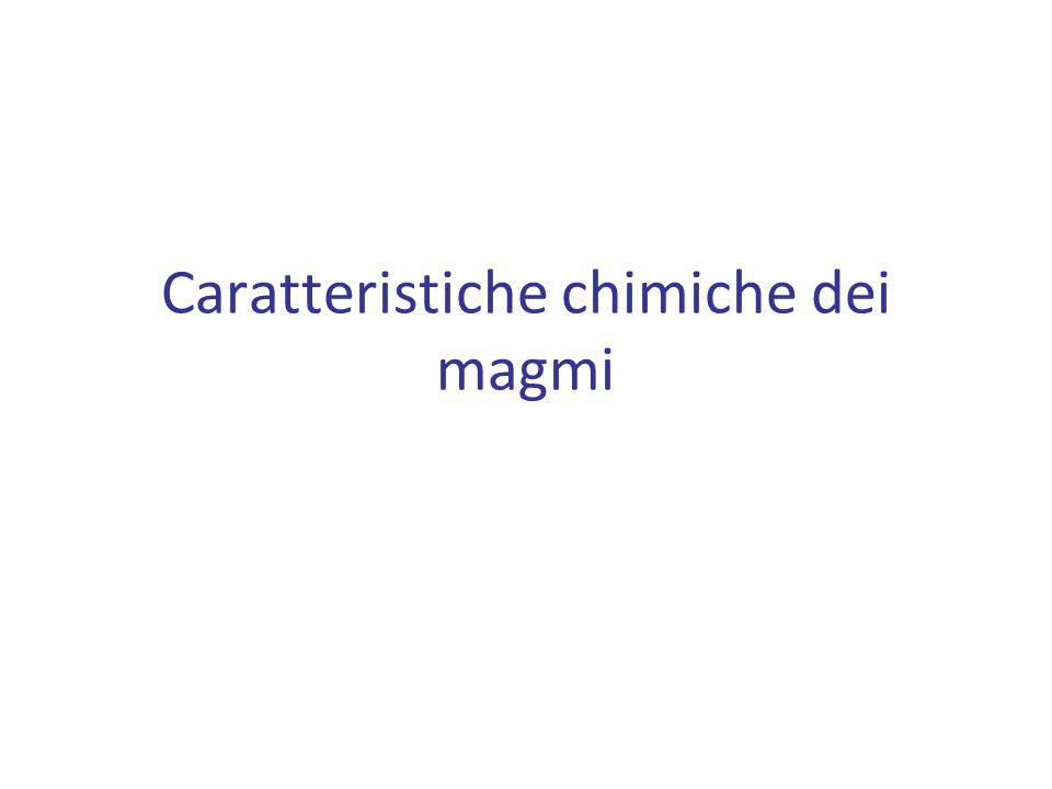 Caratteristiche chimiche dei magmi