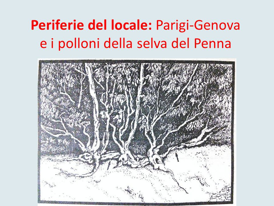 Periferie del locale: Parigi-Genova e i polloni della selva del Penna