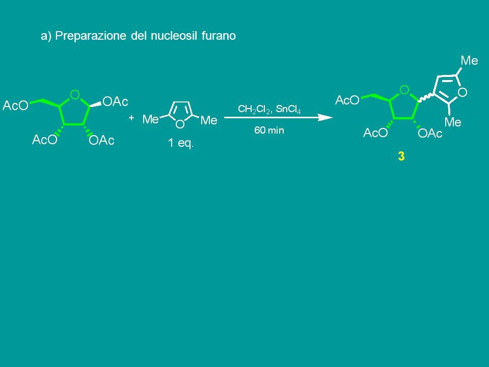 a) Preparazione del nucleosil furano