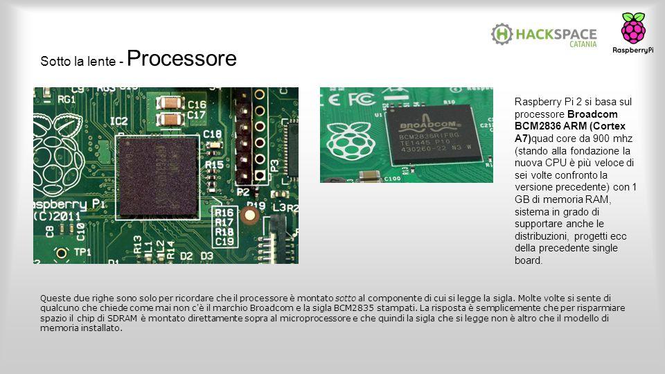 Sotto la lente - Processore Queste due righe sono solo per ricordare che il processore è montato sotto al componente di cui si legge la sigla. Molte v