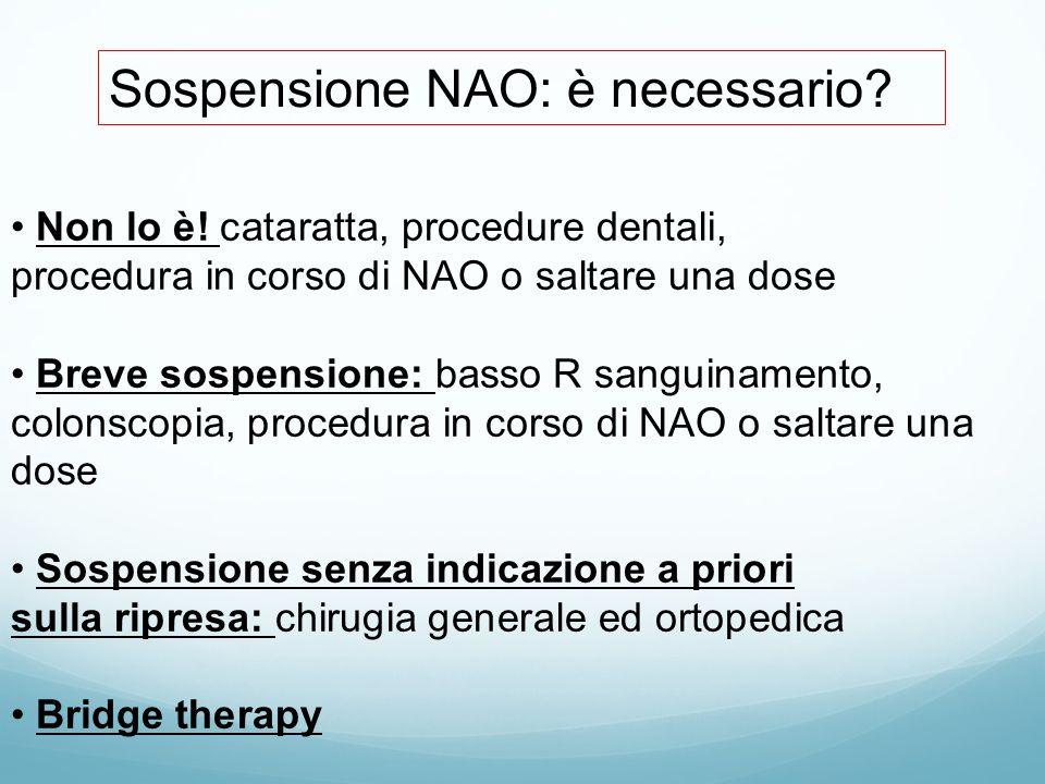 Sospensione NAO: è necessario.Non lo è.