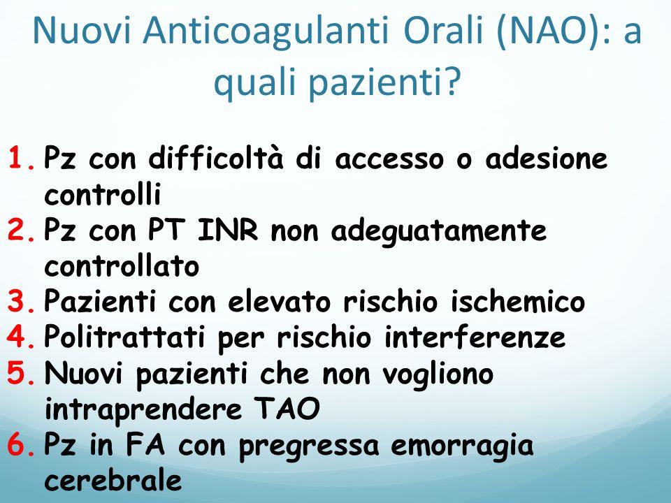 Nuovi Anticoagulanti Orali (NAO): a quali pazienti.