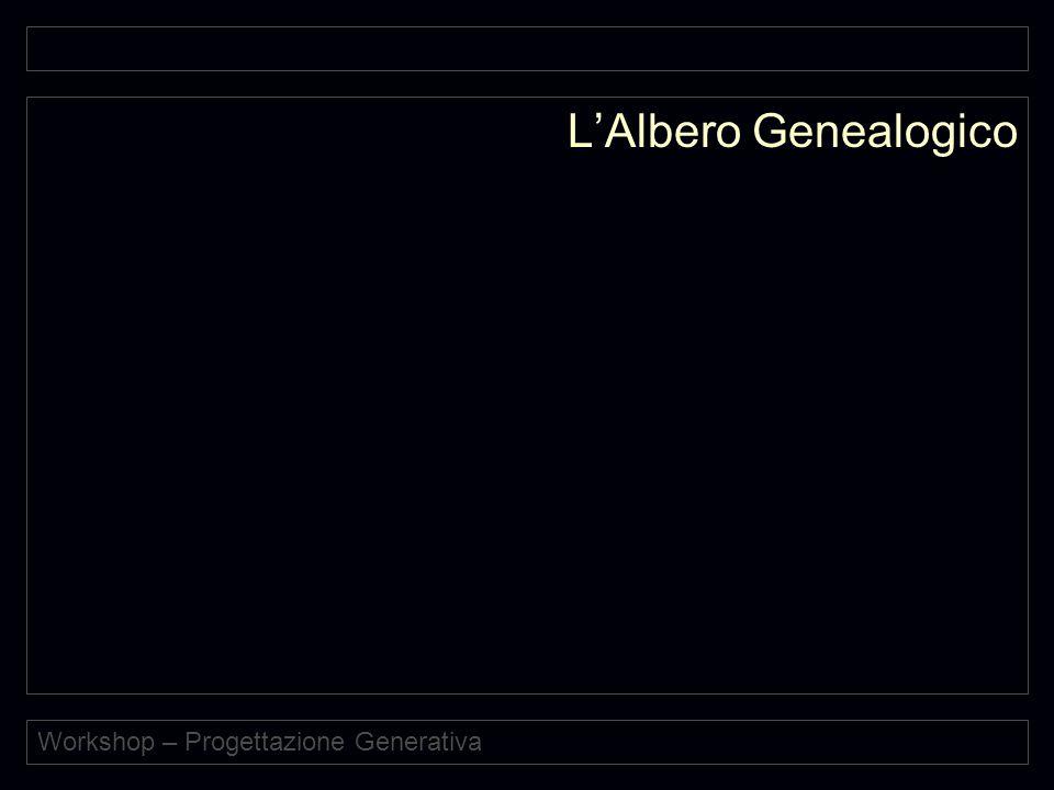 Workshop – Progettazione Generativa L'Albero Genealogico