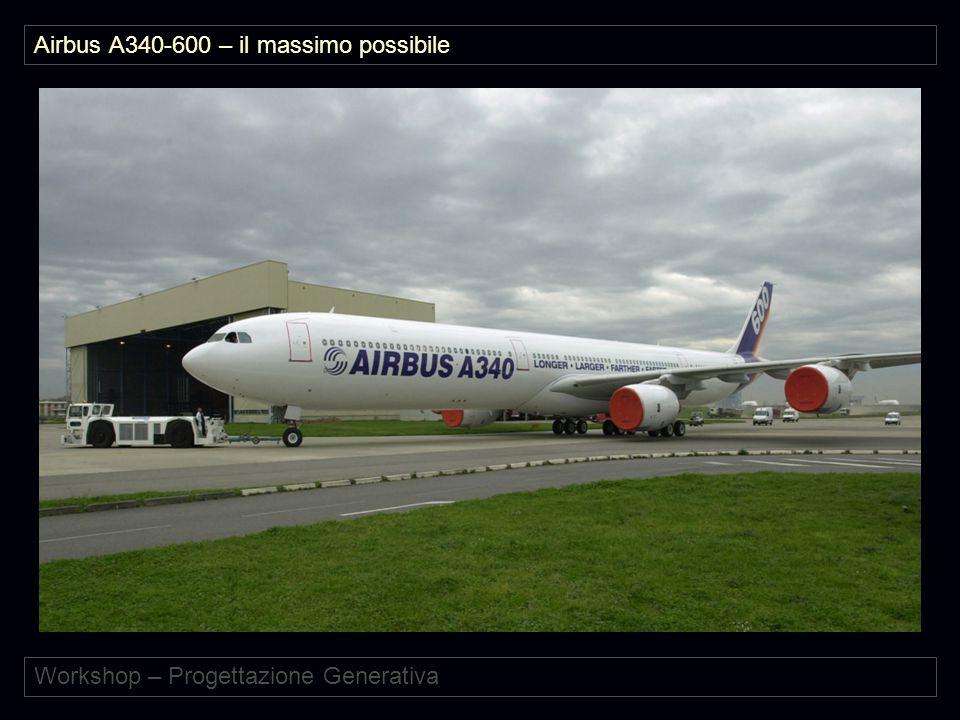 Workshop – Progettazione Generativa Airbus A340-600 – il massimo possibile