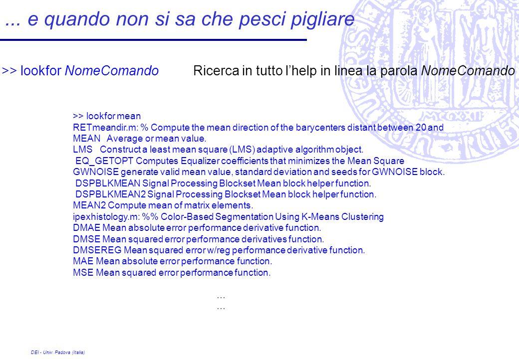DEI - Univ. Padova (Italia)...