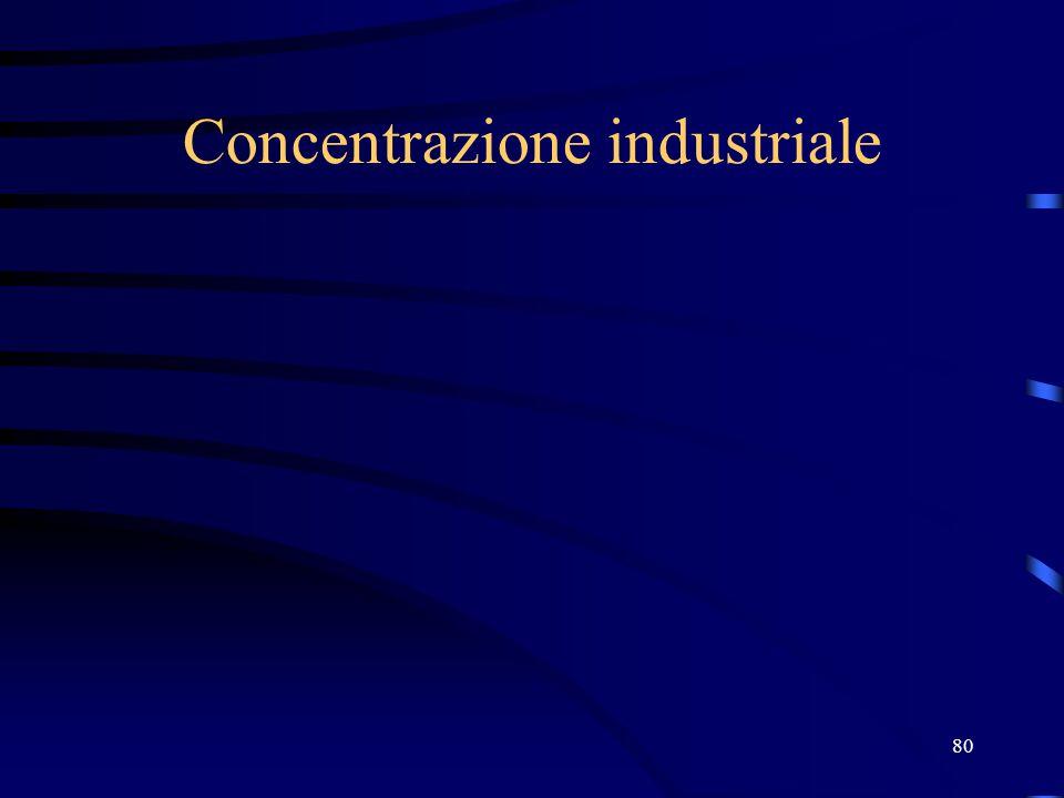 Concentrazione industriale 80