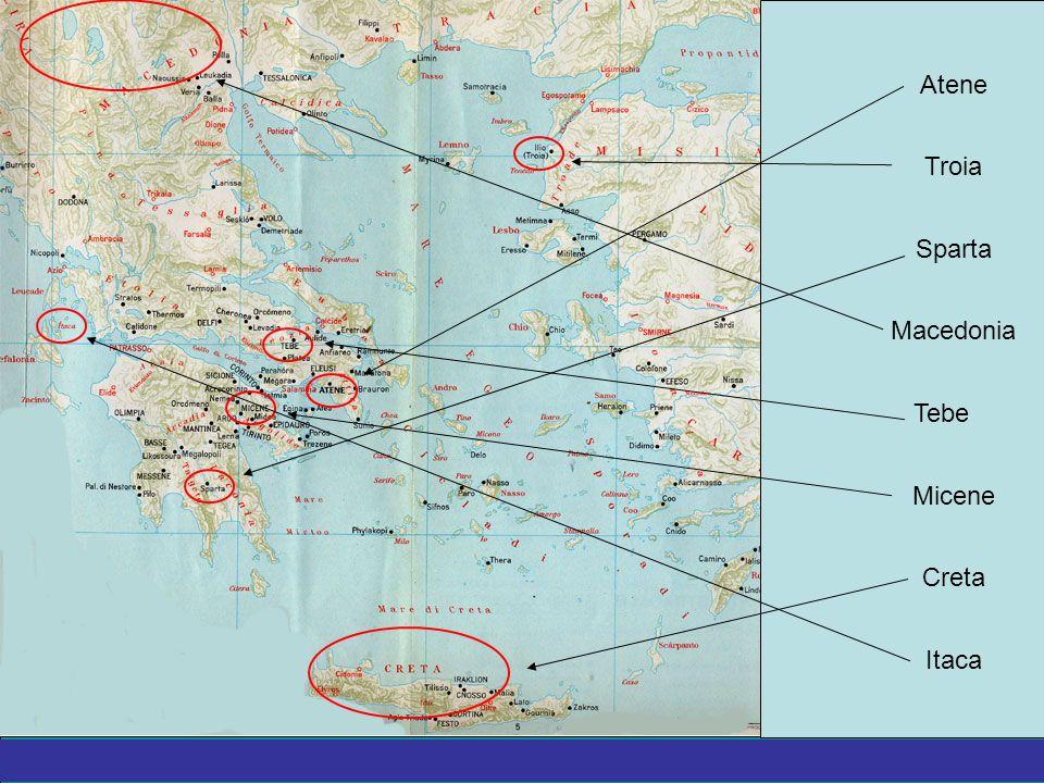 La Grecia Antica – a cura del prof. Marco Migliardi Troia Atene Itaca Micene Creta Tebe Sparta Macedonia