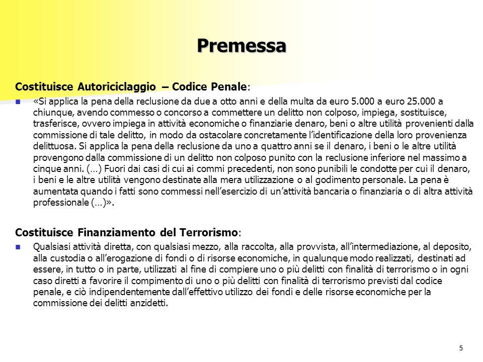 55 Premessa Costituisce Autoriciclaggio – Codice Penale: «Si applica la pena della reclusione da due a otto anni e della multa da euro 5.000 a euro 25