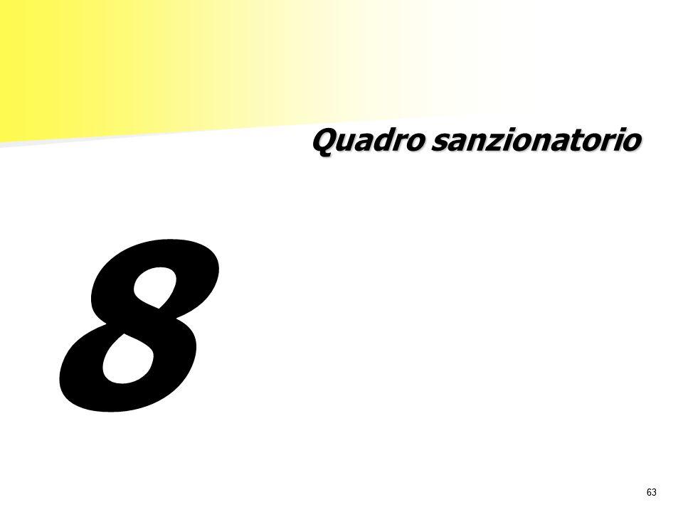 63 Quadro sanzionatorio 8