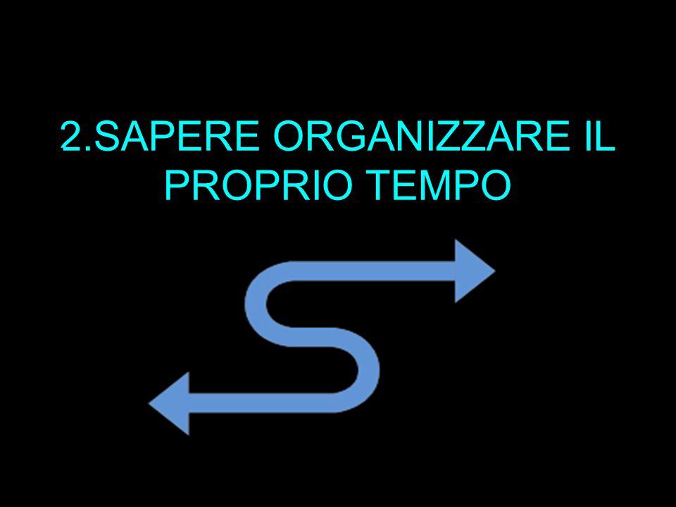 2.SAPERE ORGANIZZARE IL PROPRIO TEMPO 2.
