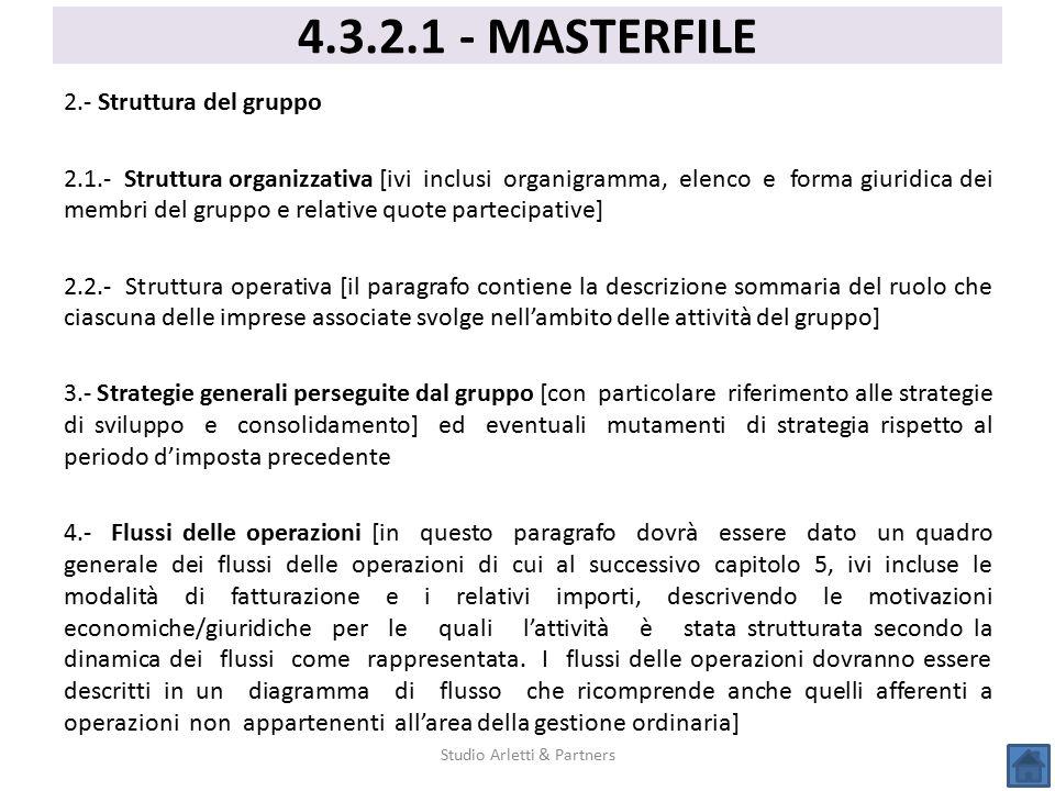 2.- Struttura del gruppo 2.1.- Struttura organizzativa [ivi inclusi organigramma, elenco e forma giuridica dei membri del gruppo e relative quote part
