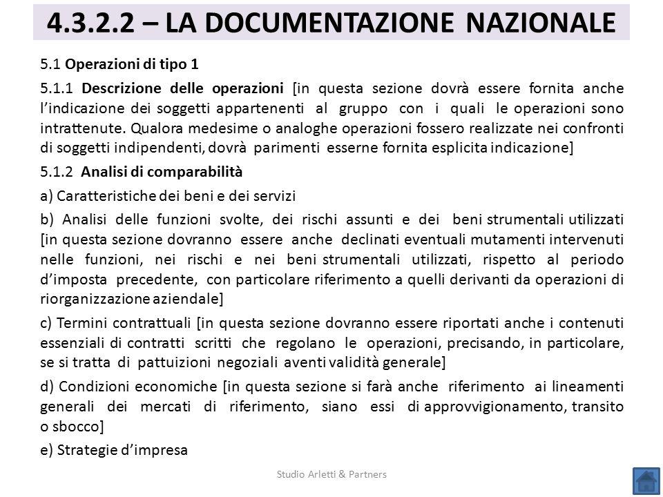 5.1 Operazioni di tipo 1 5.1.1 Descrizione delle operazioni [in questa sezione dovrà essere fornita anche l'indicazione dei soggetti appartenenti al g