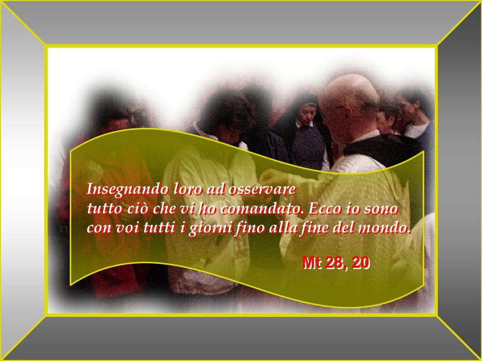 GHIRLANDAIO E Gesù avvicinatosi, disse loro: Mi è stato dato ogni potere sulla terra, Andate dunque e ammaestrate tutte le nazioni, battezzandole nel nome del Padre e del Figlio e dello Spirito Santo.
