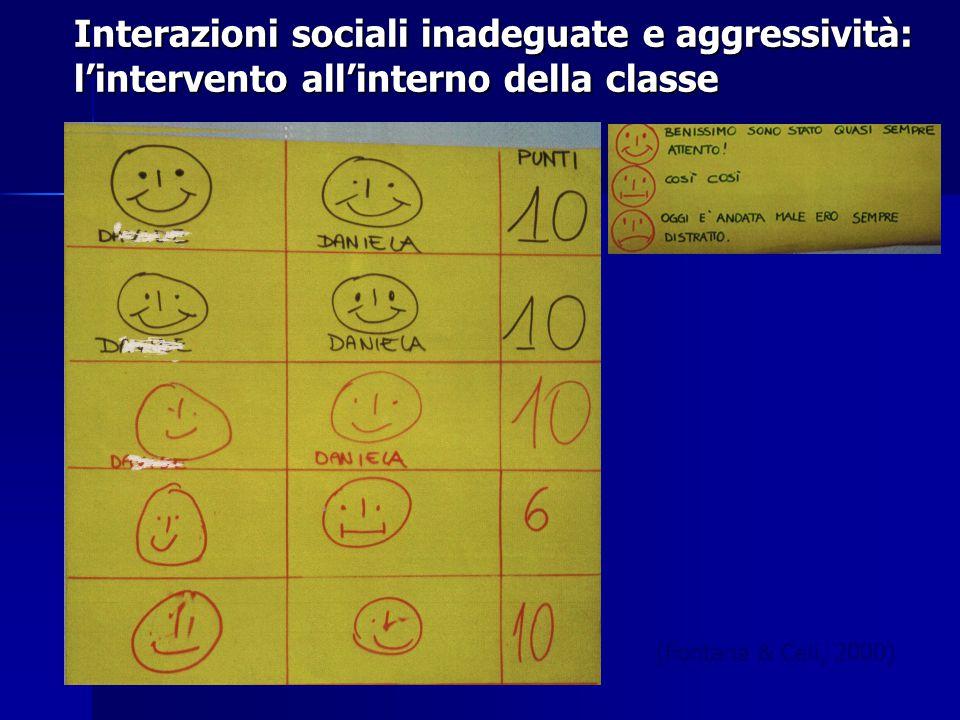 Interazioni sociali inadeguate e aggressività: l'intervento all'interno della classe (Fontana & Celi, 2000)