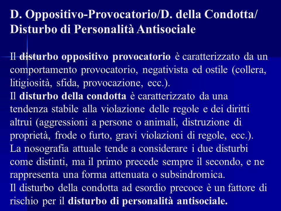 D.Oppositivo-Provocatorio/D.