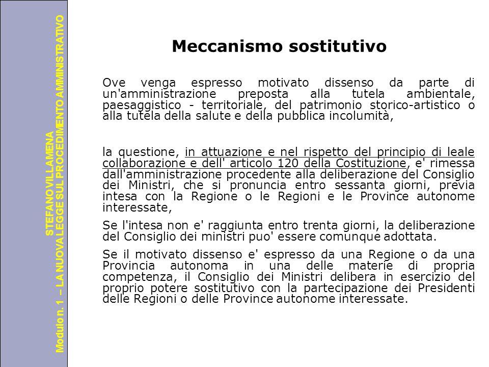 Università degli Studi di Perugia Modulo n. 1 – LA NUOVA LEGGE SUL PROCEDIMENTO AMMINISTRATIVO STEFANO VILLAMENA Meccanismo sostitutivo Ove venga espr