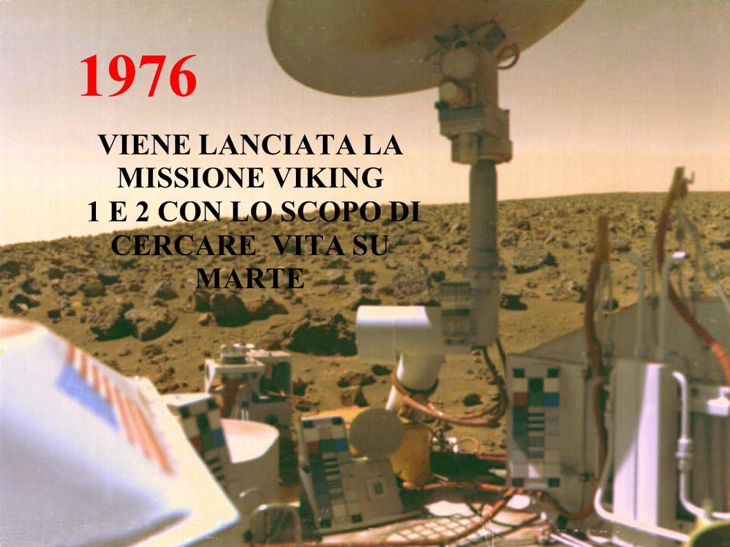1976 VIENE LANCIATA LA MISSIONE VIKING 1 E 2 CON LO SCOPO DI CERCARE VITA SU MARTE