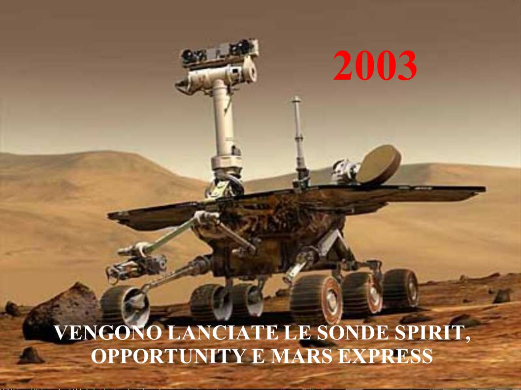 2003 VENGONO LANCIATE LE SONDE SPIRIT, OPPORTUNITY E MARS EXPRESS