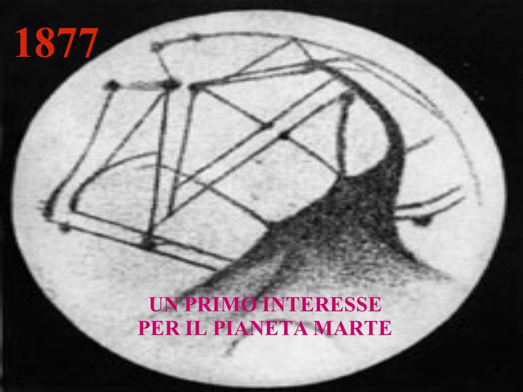 1877 UN PRIMO INTERESSE PER IL PIANETA MARTE