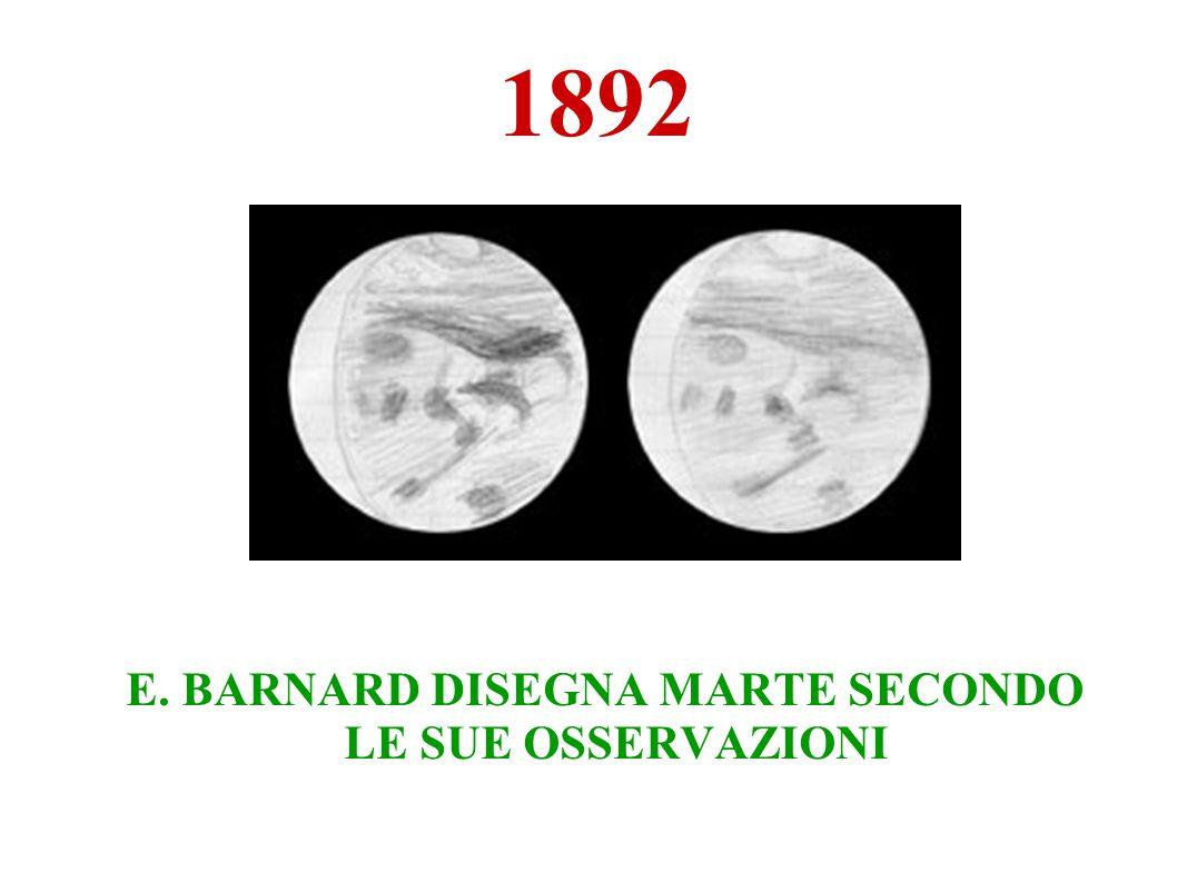 1892 E. BARNARD DISEGNA MARTE SECONDO LE SUE OSSERVAZIONI