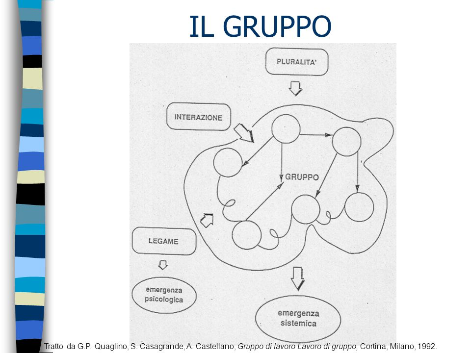 IL GRUPPO DI LAVORO Tratto da G.P.Quaglino, S. Casagrande, A.