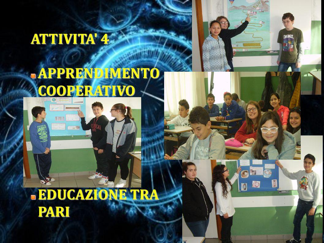 ATTIVITA' 4 APPRENDIMENTO COOPERATIVO EDUCAZIONE TRA PARI