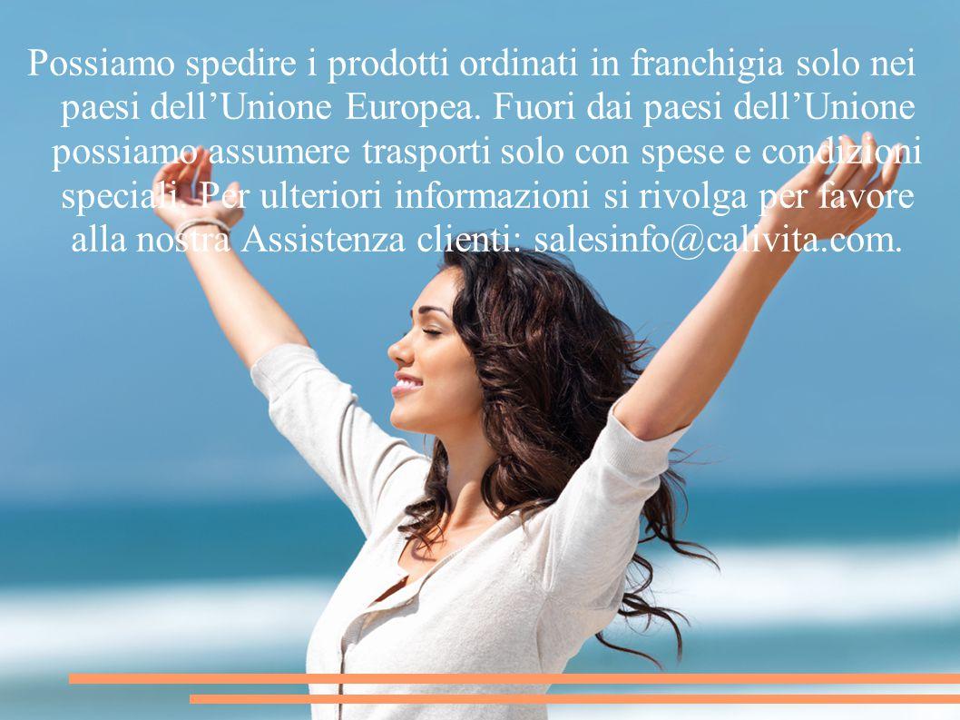 Possiamo spedire i prodotti ordinati in franchigia solo nei paesi dell'Unione Europea.