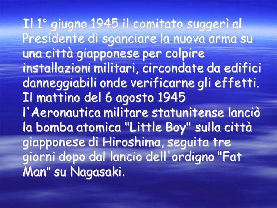 STORIA La realizzazione delle bombe nucleari è dovuta a numerosi scienziati e a una catena di successive scoperte, iniziate da Enrico Fermi nel 1934.