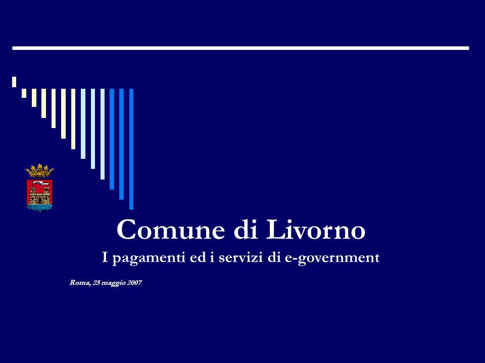 Roma, 25 maggio 2007 Comune di Livorno I pagamenti ed i servizi di e-government