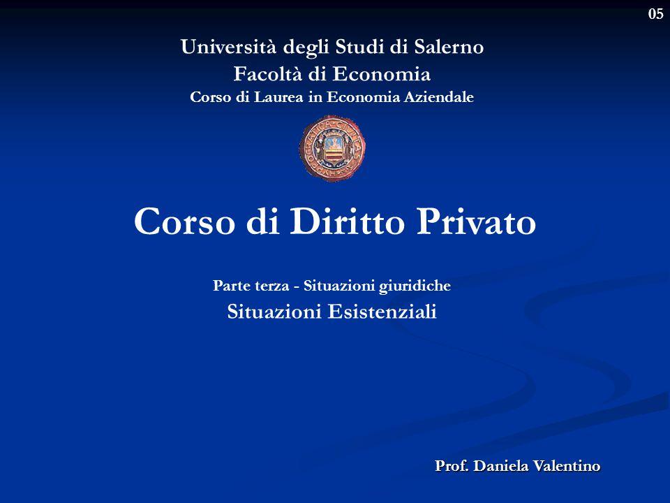 05 Università degli Studi di Salerno Facoltà di Economia Corso di Laurea in Economia Aziendale Prof.