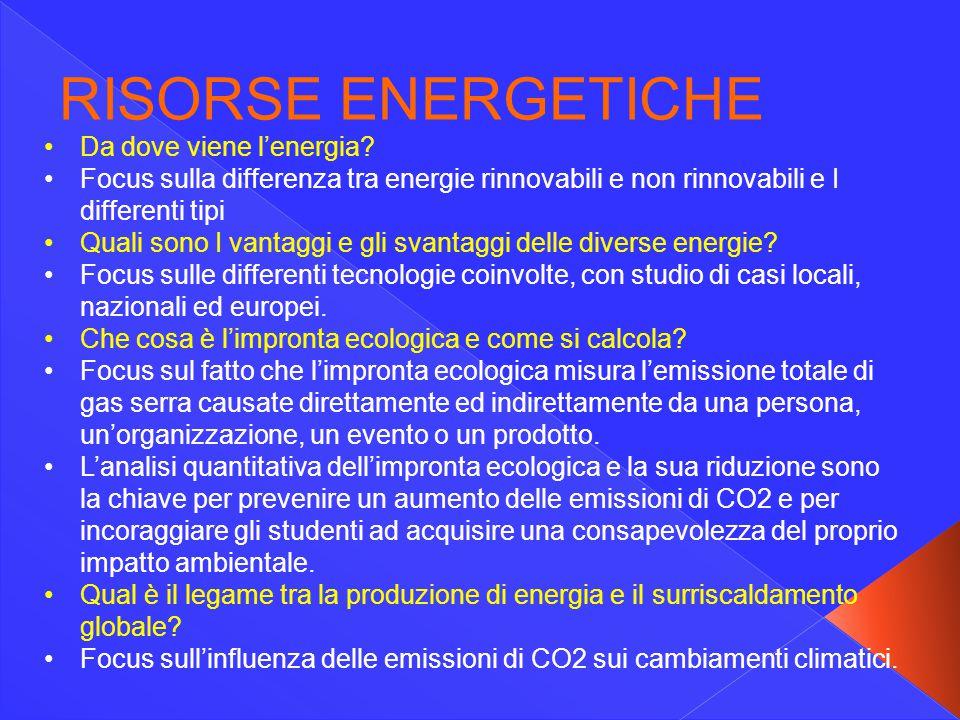 Da dove viene l'energia? Focus sulla differenza tra energie rinnovabili e non rinnovabili e I differenti tipi Quali sono I vantaggi e gli svantaggi de