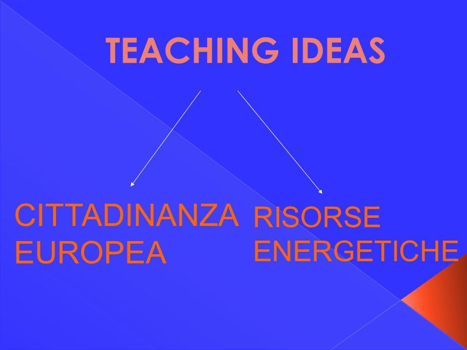 TEACHING IDEAS CITTADINANZA EUROPEA RISORSE ENERGETICHE
