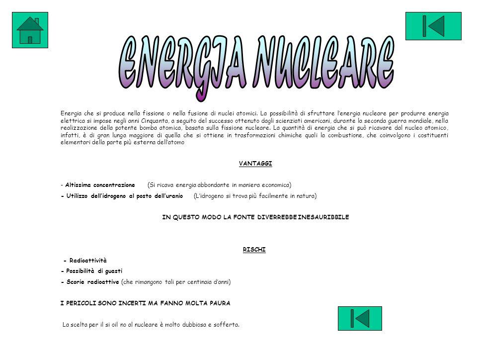 Energia che si produce nella fissione o nella fusione di nuclei atomici.