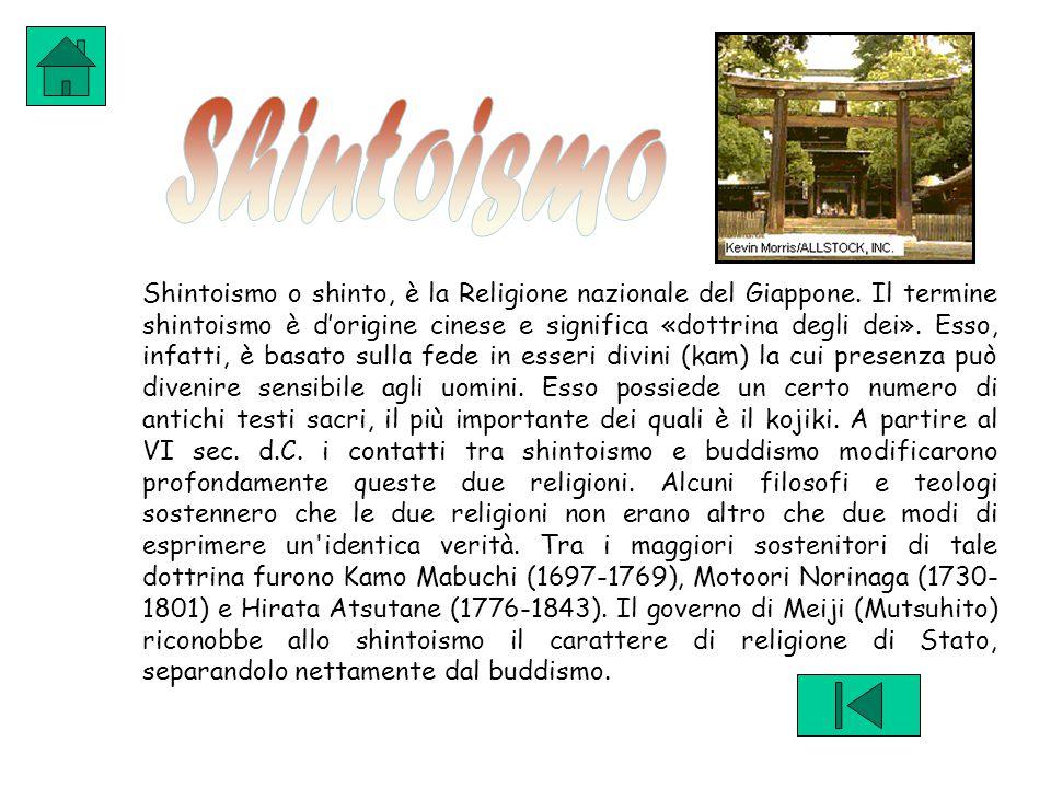 Shintoismo o shinto, è la Religione nazionale del Giappone.