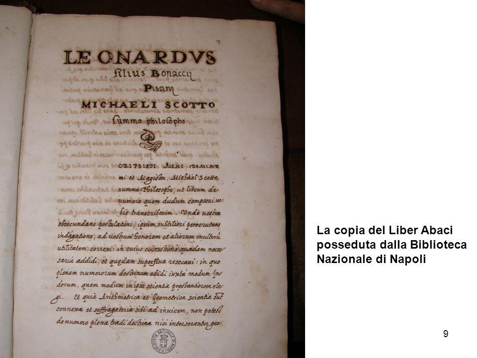9 La copia del Liber Abaci posseduta dalla Biblioteca Nazionale di Napoli