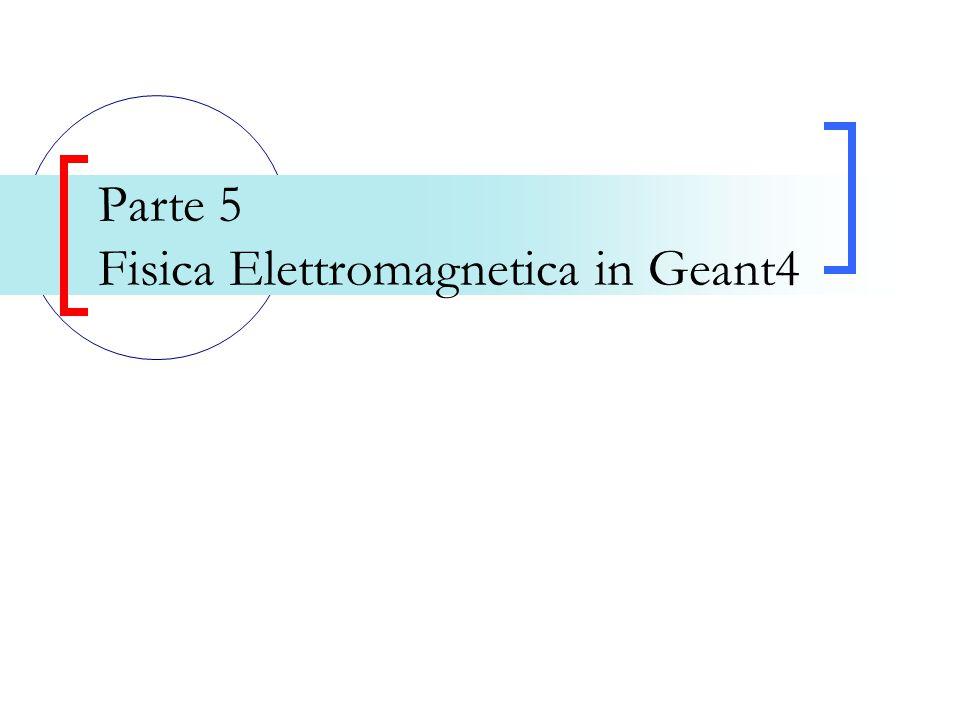 Parte 5 Fisica Elettromagnetica in Geant4