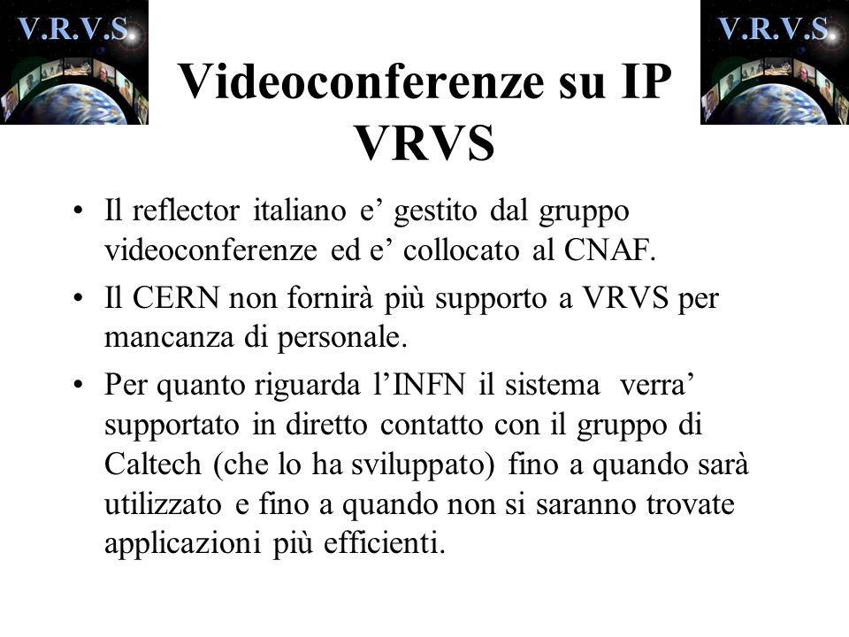 Il reflector italiano e' gestito dal gruppo videoconferenze ed e' collocato al CNAF.