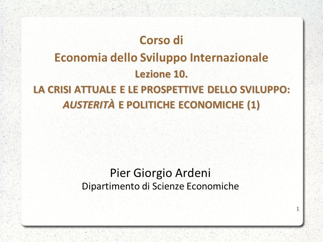 Sul concetto di austerità Ci sono idee basate più su convinzioni che su ragionamenti e teorie logicamente fondate.
