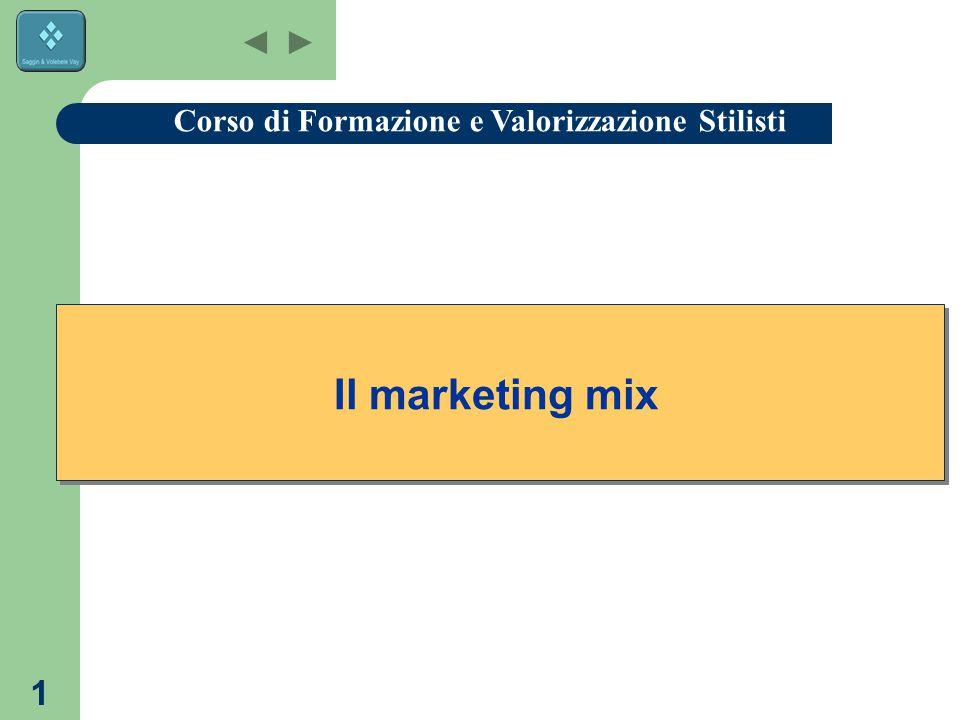 1 Il marketing mix Corso di Formazione e Valorizzazione Stilisti