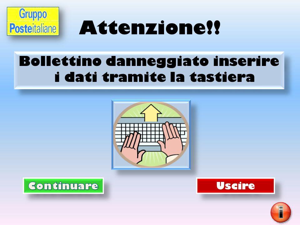 Inserire indirizzo tramite tastiera Nome Cognome Via/piazza n° Città CAP