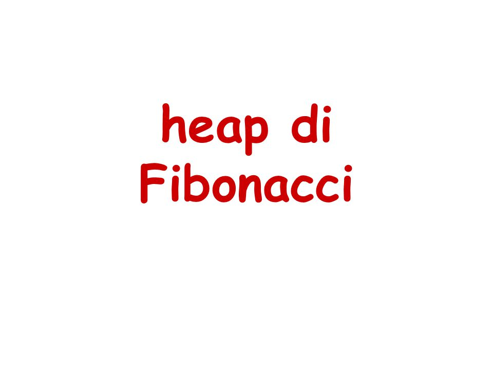 Una heap di Fibonacci é un insieme di alberi (non necessariamente binomiali) con l'ordinamento parziale a heap.