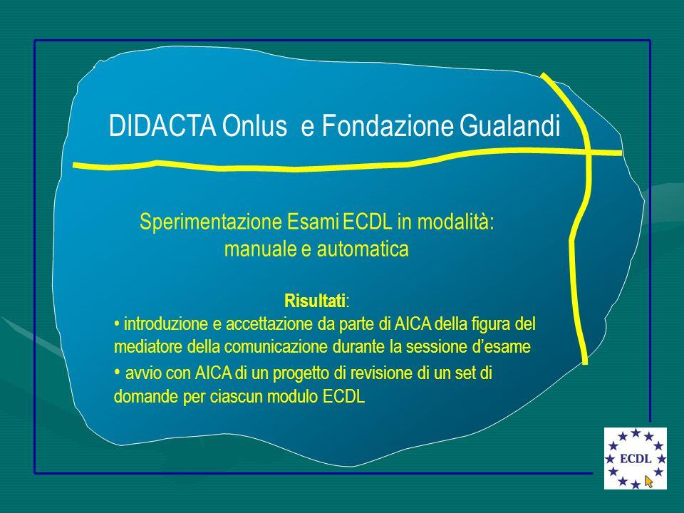 Materiale didattico per disabili Disponibile in formato digitale Contenuti riferiti al Syllabus ECDL Linguaggio semplice da capire Immagini essenziali