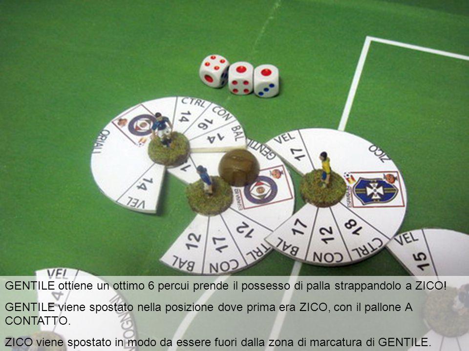 GENTILE ottiene un ottimo 6 percui prende il possesso di palla strappandolo a ZICO.