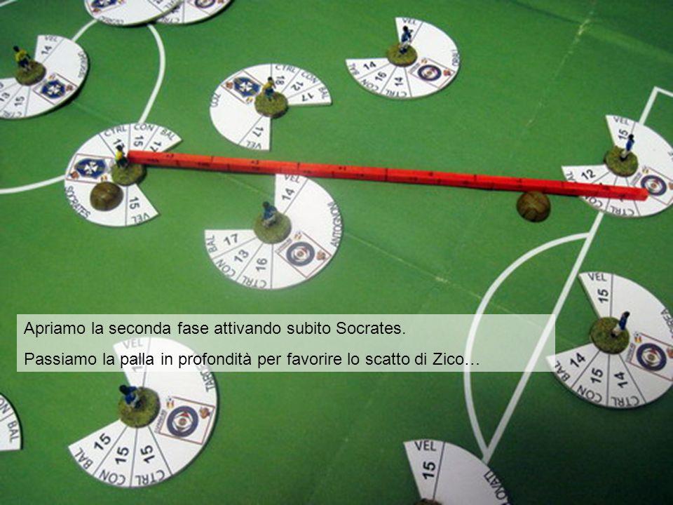 Per effettuare con successo il passaggio, Socrates deve superare un test sulla sua BAL. Al valore base (17) si deve applicare: 1)Mettiamo un segnalino