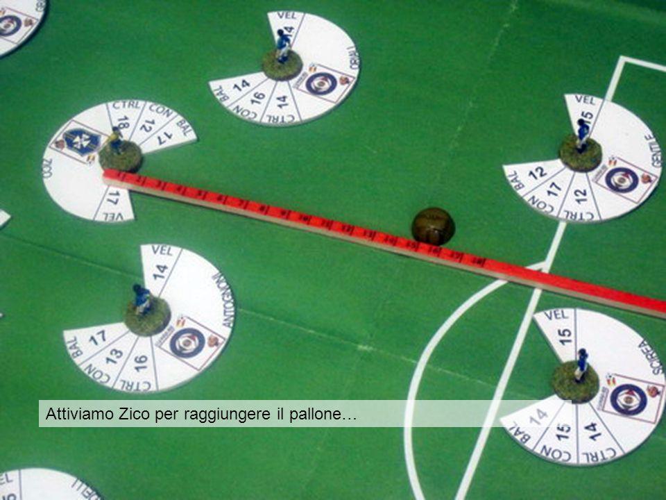 …Zico ora è al limite dell'area con la palla incollata al piede…ma per lui il turno è finito… Attiviamo Zico per raggiungere il pallone…