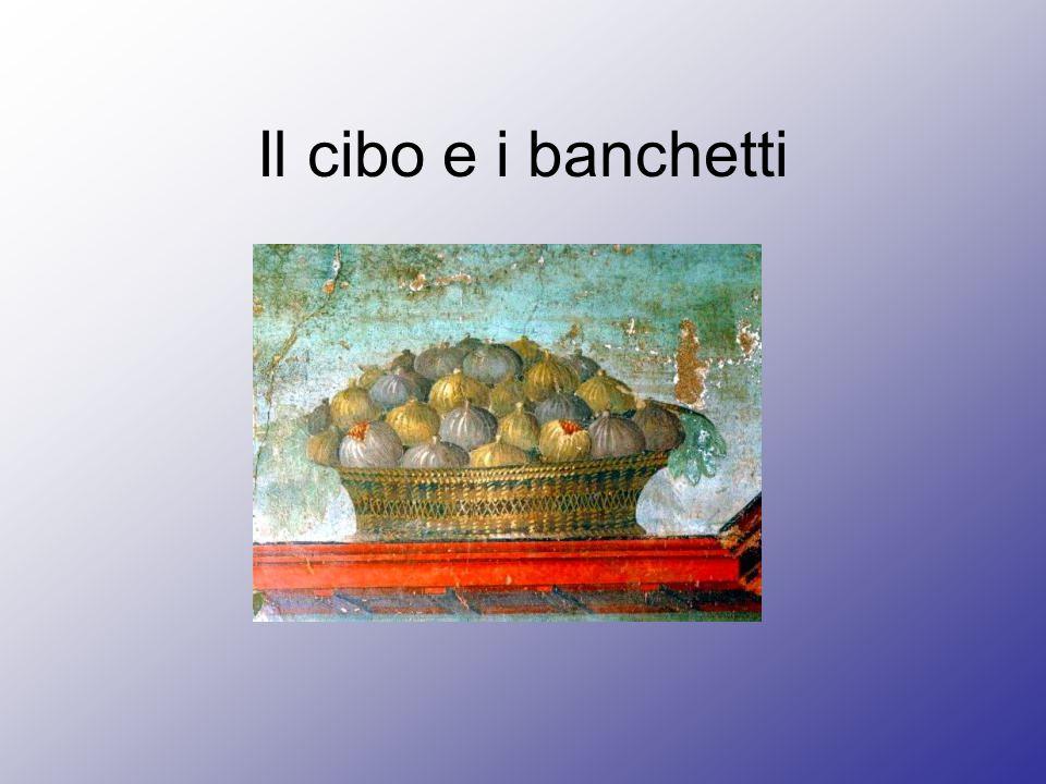 Il banchetto Cena di gala Apparato sontuoso Cibi prelibati Spettacolo Commisatio: intervallo prima del dessert in cui si discute e si gusta il vino buono