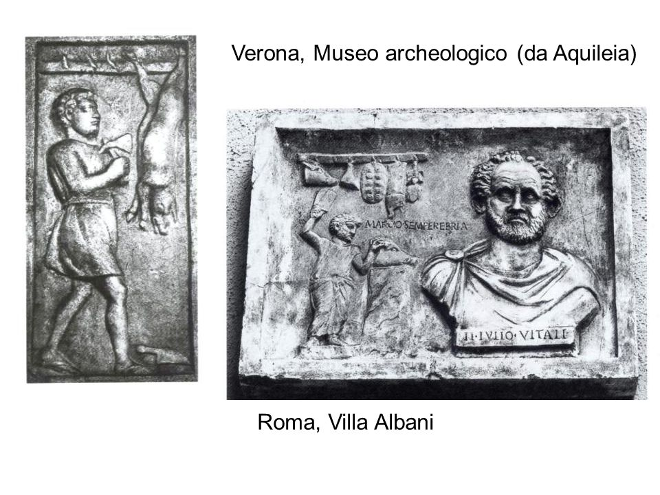Verona, Museo archeologico (da Aquileia) Roma, Villa Albani