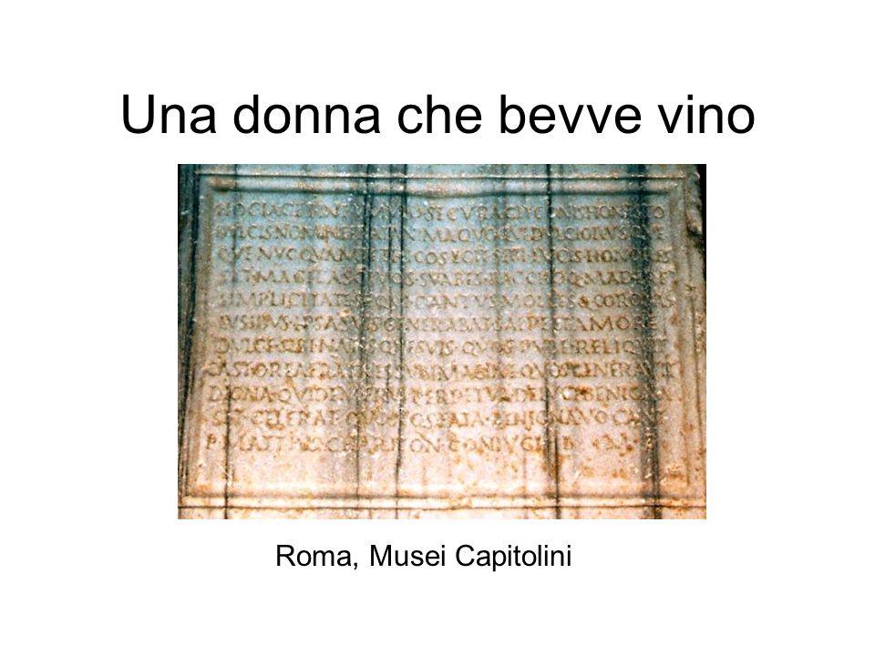 Una donna che bevve vino Roma, Musei Capitolini